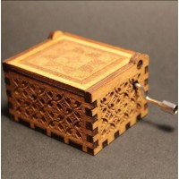 Fashion Design Antique Carved Wooden Music Box