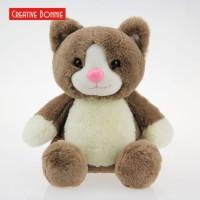 Plush Stuffed Toy Rabbit Fabric Fur Brown Sitting Cat 20cm 30cm